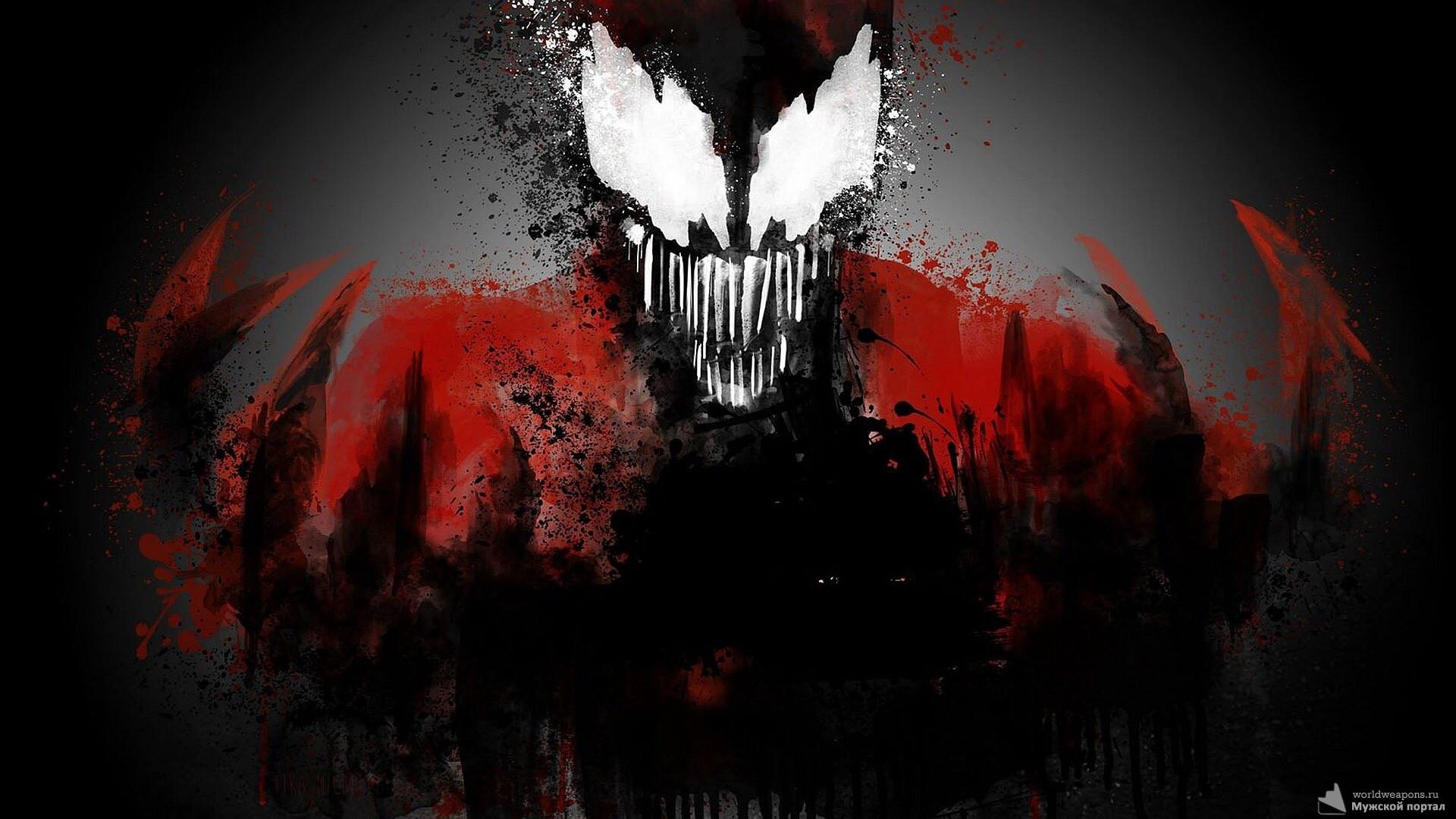 Крутой арт, черный, красный, злой.