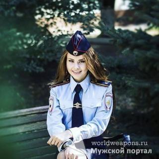 Красивая девушка в форме. МВД РФ. Милашка.