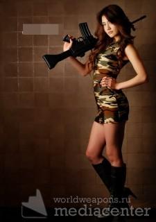 Девушки с оружием.