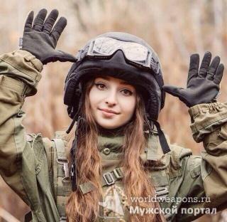 Милашка. Красивая девушка в военной форме. Камуфляж. 2016.
