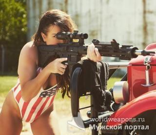 Опасны и прекрасны! Красивые девушки с оружием. Лучшее.