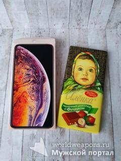 iPhone и шоколадка