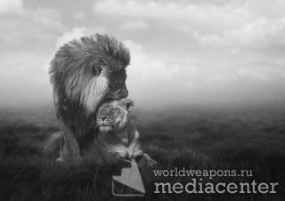 Сидели рядом как-то бык со львом.  Беседу, вдруг, нарушила звонком  Супруга льва: мол, жду тебя домой.  Лев встал покорно...